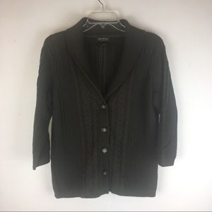 Women's Size L 100% cotton cardigan sweater